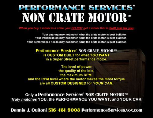 Performance Services' NON CRATE MOTOR™